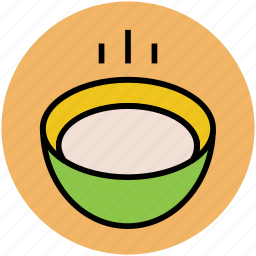 bowl, food bowl, hot food, meal, soup icon