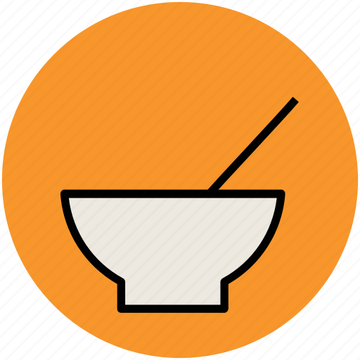 bowl, eating, food bowl, hot food, meal, soup, spoon icon