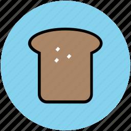 bakery food, bread, bread slice, breakfast, sandwich, toast icon