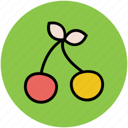cherry, diet, fruit, healthy food, stone fruit icon