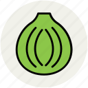 bulb onion, common onion, diet, food, onion, vegetable icon