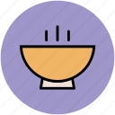 bowl, food bowl, hot food, platter, soup bowl icon