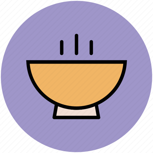 bowl, food bowl, hot food, platter, soup bowl icon