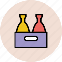beer box, beer case, beer crate, bottles crate, drink crate icon