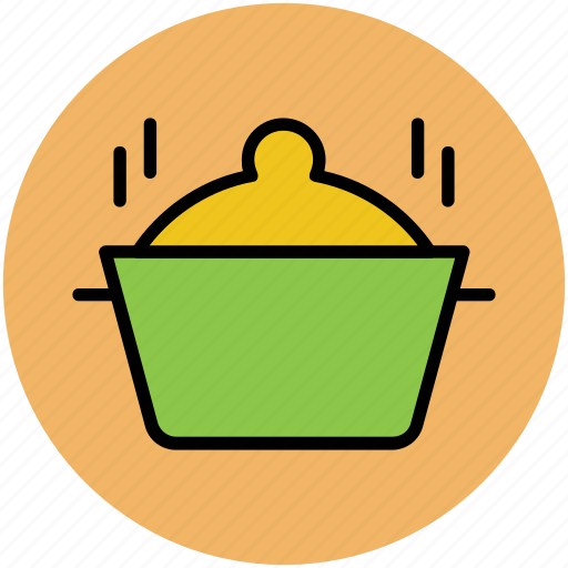 cooking food, cooking pot, hot food, meal preparation, meal time icon