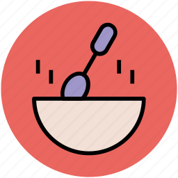 bowl, food bowl, hot food, meal, soup, spoon icon