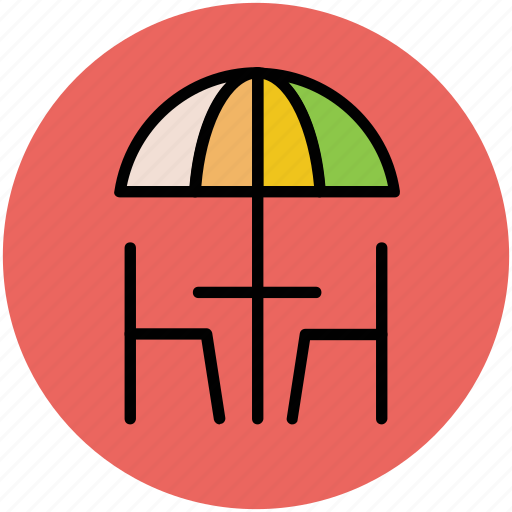 cafe table, chair, dining room, dining table restaurant table, furniture icon