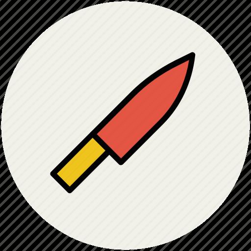 chef knife, cutting tool chopping, food cutting, knife icon