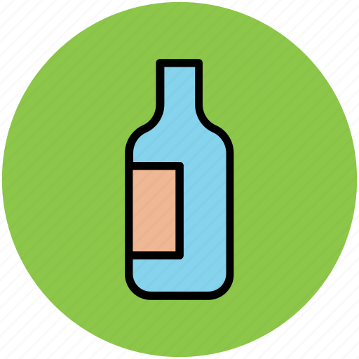 alcohol bottle, bottle, drink bottle, liquor, wine icon