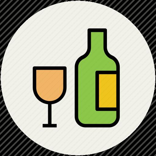 alcohol, beverage, bottle, drink, glass, wine, wine bottle icon