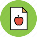 apple, diet chart, diet plan, food plan, healthy diet icon