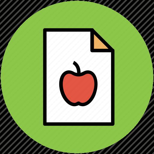 apple, diet chart, diet plan, food plan, healthy diet icon
