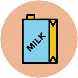 milk bottle, milk box, milk carton, milk container, milk pack icon