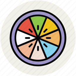 citrus, fruit, lemon, lemon slice, lime, orange slice icon