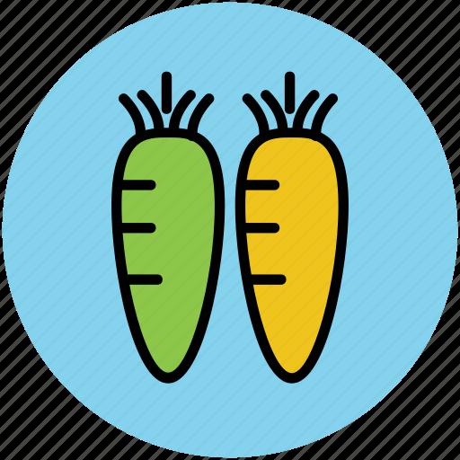 carrots, diet, food, healthy food, root vegetable, vegetables icon