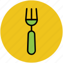 cutlery, eating, flatware, fork, tableware, utensil icon