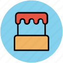bakery food, birthday cake, cake, celebration, dessert icon