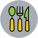cutlery, flatware, kitchenware, knife, spoon, utensil icon