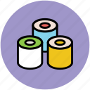 food, japanese food, meal, salmon roll, sushi icon
