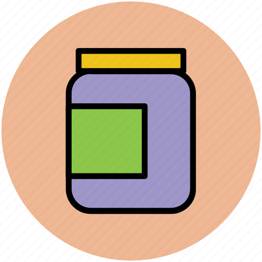 bottle, canned food, jar, pot, tin food, vessel icon