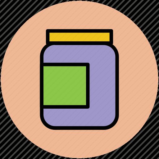 bottle, canned food, jar, pot, tin food, vessel icon