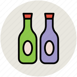 alcohol bottles, bottles, drink bottles, liquor bottles, wine bottles icon