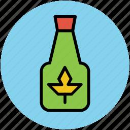 bottle, herbal oil, liquor bottle, oil bottle, olive oil icon