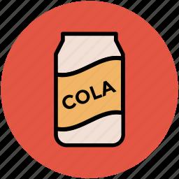 coke tin, cola, cola can, drink, soda icon