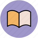 book, cookbook, open book, recipe book, recipe card icon