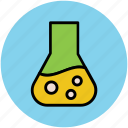 conical flask, elementary flask, flask, lab flask, lab glassware icon