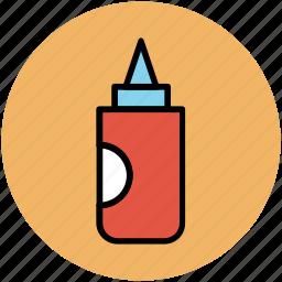 food dressing, ketchup bottle, kitchen accessories, mustard bottle, sauce bottle icon