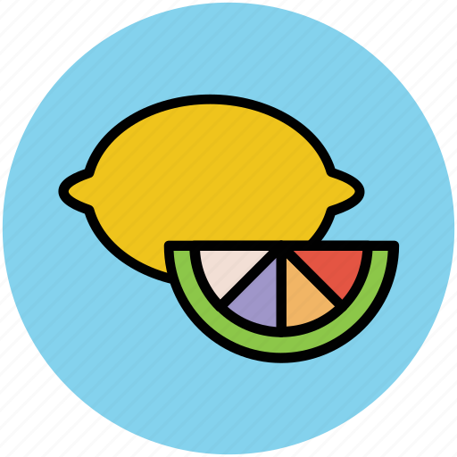 citrus, diet, food, fruit, healthy food, lemon, lemon slice, lime icon