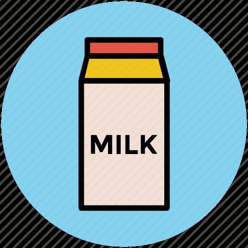 milk bottle, milk box, milk carton, milk container, milk pack icon