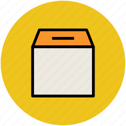 box, cardboard box, carton, delivery pack, package icon