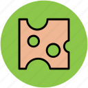 cheese, cheese block, cheese piece, dairy product, food, food product icon