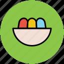 bowl, dessert, food, food bowl, meal, snacks icon