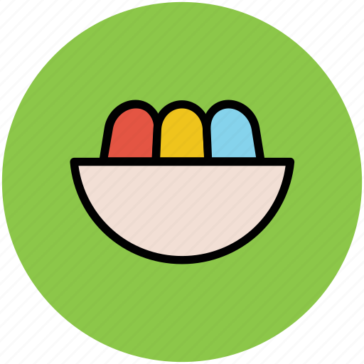 bowl, dessert, food, food bowl, meal, snacks icon