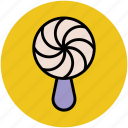 candy, confectionery, lollipop, lolly, sweet, sweet snack, swirl lollipop icon