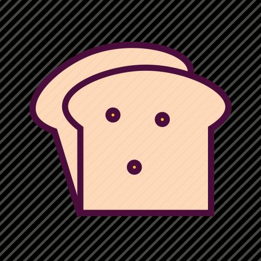 bakery, bread, bread loaf, breakfast, food, toast icon