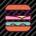 fastfood, cheese burger, hamburger, food, burger, junk food icon