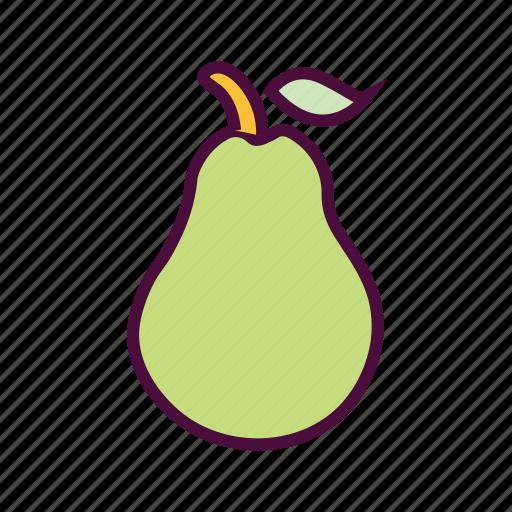 food, fruits, healthy food, nutrition food, pear icon