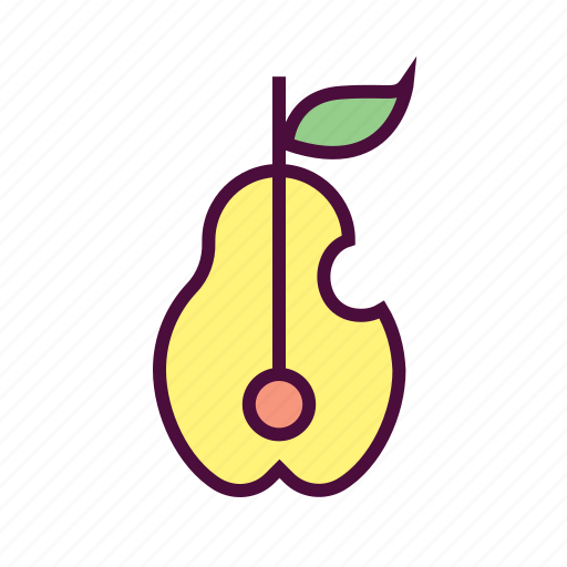 food, fruits, healthy food, nutrition food, pear icon