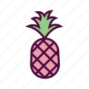 dessert, diet, food, fresh fruit, healthy food, pineapple icon