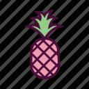 dessert, diet, food, fresh fruit, healthy food, pineapple icon