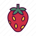 berries, berry fruit, food, healthy food, strawberry icon