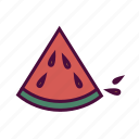 diet, food, fruit, healthy food, slice, summer fruit, watermelon icon