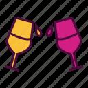 alcohol, beverage, cheers, drink, glass, juice, wine