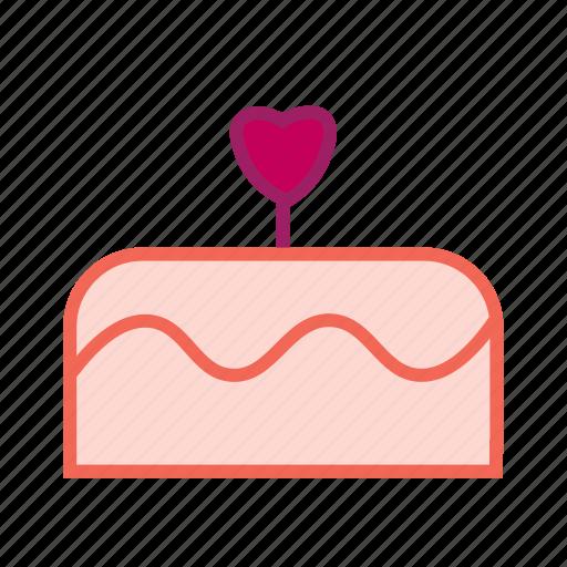 birthday cake, cake, dessert, food, party, valentines day, wedding cake icon