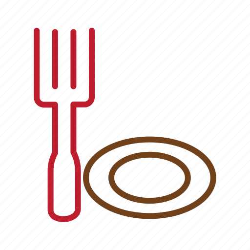 eat, fork.meal plate, kitchen, restaurant icon
