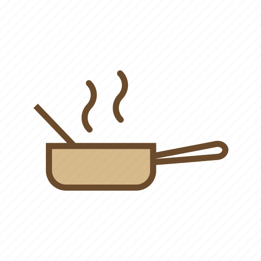 cooking pan, cooking pot, food, hot food, hot pan, steam icon